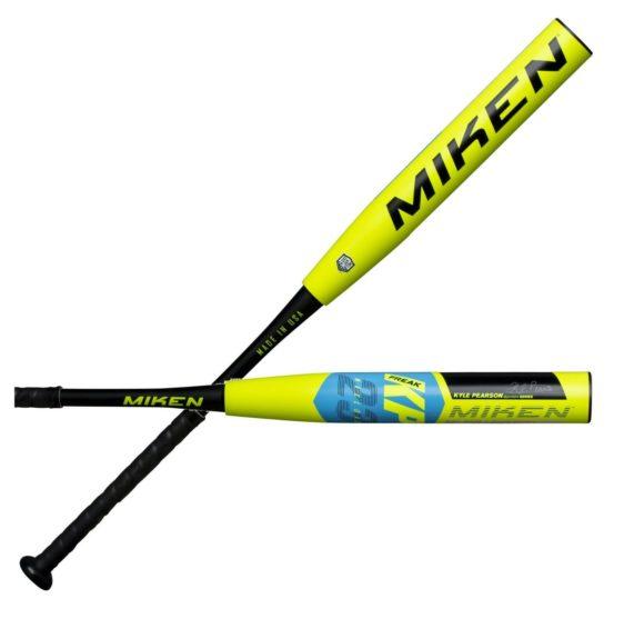 heat rolled miken kp23 asa softball bat